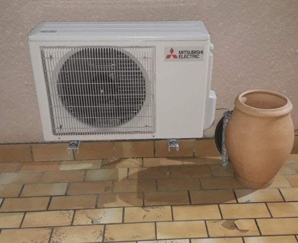 Unité extérieure climatisation réversible Mitsubishi Electric à Villemade 82
